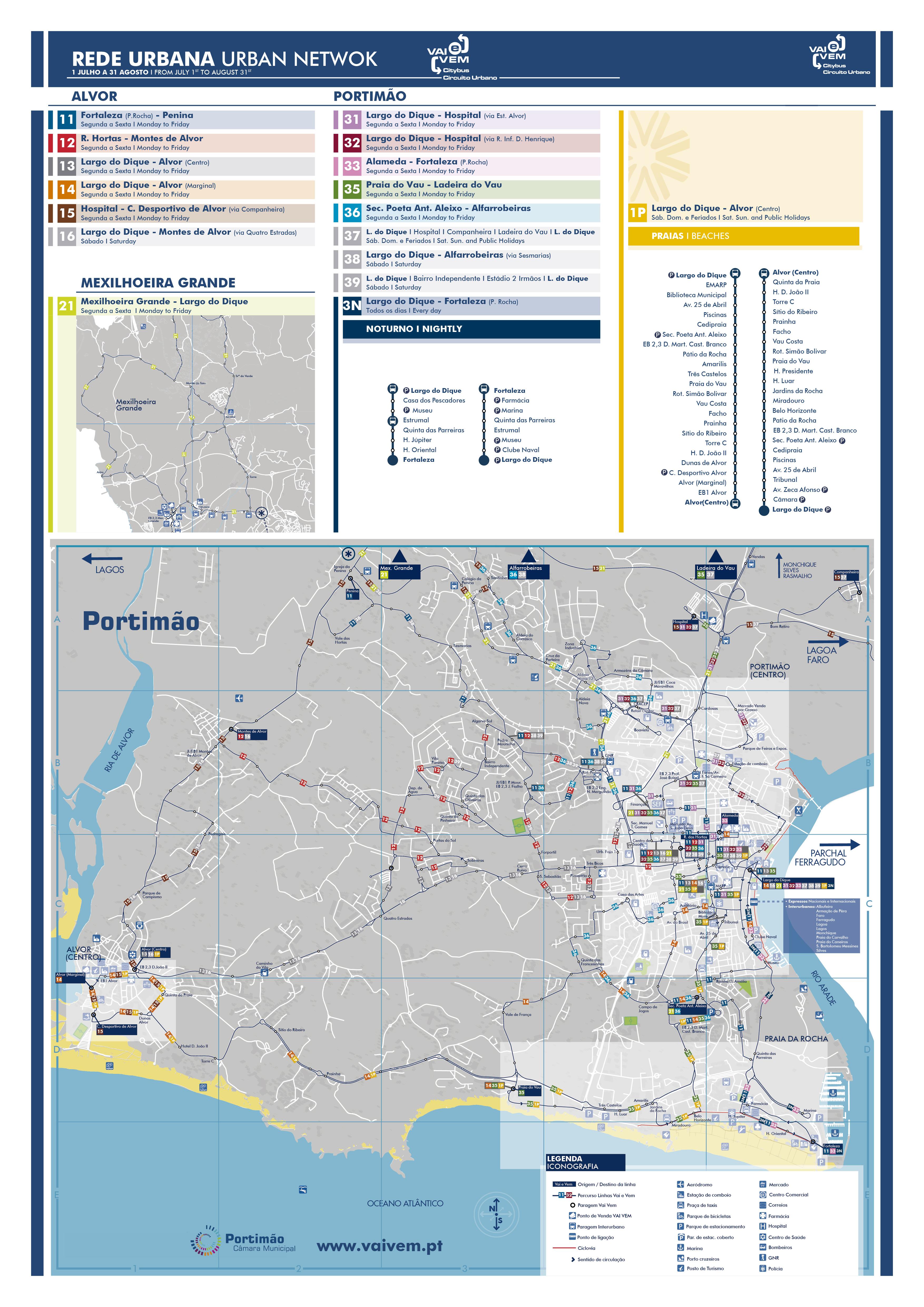 mapa das ruas de portimão Bus Timetables Portimão mapa das ruas de portimão