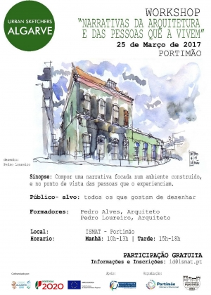 05-Cartaz Workshop-Urban-Sketchers ARU 2017